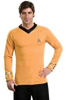 New Star Trek Captain Kirk Gold Shirt Halloween Costume
