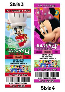 mickey mouse invitations in Holidays, Cards & Party Supply