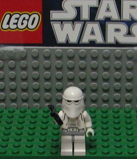 STAR WARS LEGO MINI FIGURE  MINI FIG   SNOW TROOPER    USED  WITH