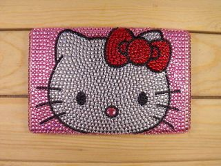 Bling crystal Pearl skin Hello kitty back cover case for  Kindle