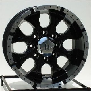 16 inch Black Wheels/Rims Chevy GMC HD Dodge Ram 8 Lug