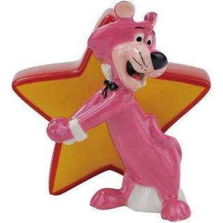 Snagglepuss & Star Salt & Pepper Shaker Set Hanna Barbera Huckleberry