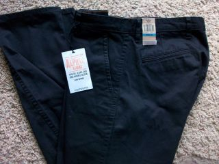 NEW DOCKERS BLACK ALPHA KHAKI PANTS MENS 36X30 #447150005 FREE SHIP
