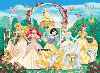 Disney Princess #4. Cross Stitch Pattern. Paper version or PDF files.
