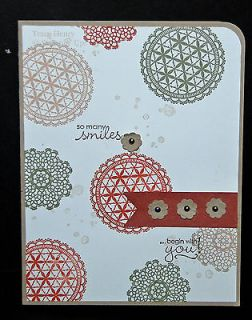 Doilies & Lace SO MANY SMILES all occasion Stampin Up handmade card