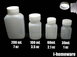 Empty Bottle + Label Sticker Pill Tablet Screw Cap Pot Case Jar Box