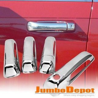 For 08 11 Dodge Ram 1500 2500 3500 Triple Chrome Door Handle Cover