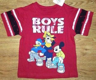 Boys, Mickey Mouse, Goofy, Donald Duck, Boys Rule Shirt, 18 Months