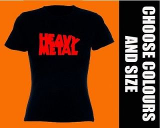 HEAVY METAL T SHIRT girly T WOMENS lady fit ROCK GUITAR