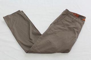 DOCKERS MENS BROWN ALPHA KHAKI SLIM FLAT FRONT 5 POCKET PANTS NWT 36