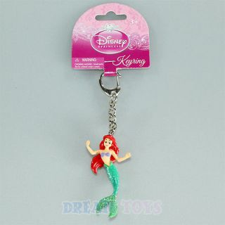 Disney Little Mermaid Ariel Plastic Key Chain   Ring The Princesses