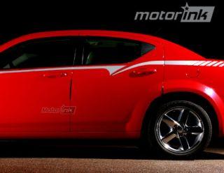 Dodge AVENGER Body Line Side Graphics Stripes 3M 2008 2012 08 09 10 11