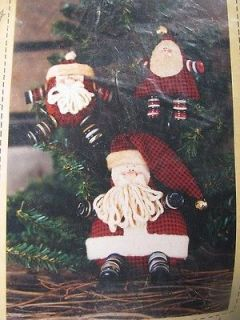 Sew Country~BUTTON LEG SANTA~Soft Sculpture Doll Kit~New In Package