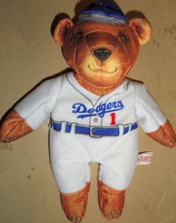 BEANSVILLE BUDDIES Los Angeles Dodger MLB Baseball TEDDY BEAR Bean Bag