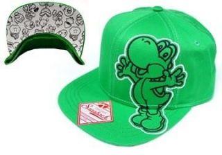 Nintendo Super Mario Bros. Yoshi Green Snapback Hat 80505