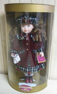 COLLECTIBLE MEMORIES GENUINE PORCELAIN DOLL DENICE RED OUTFIT IN