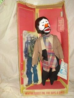 Vintage Emmett Kelly Jr   VENTRILOQUIST DOLL / DUMMY   By Horsman
