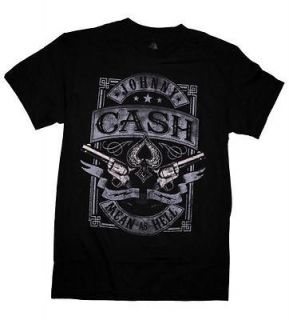 JOHNNY CASH T SHIRT DONT TAKE YOUR GUNS TO TOWN LICENSED ADULT MENS