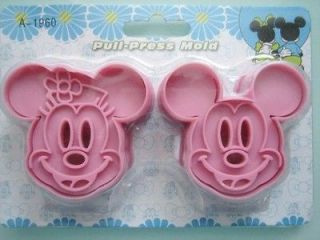 Mickey Mouse & Minnie Cookie Cutter Mold Sandwich Toast Cutter Mol P+P
