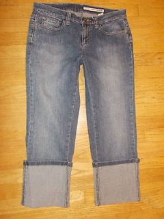 DKNY Cropped Cuffed JEANS Shorts Womens 8 curvy