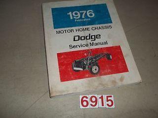1977 Dodge Motorhome Chassis Original Service Manual M 300 M 400 M 500