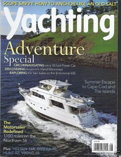 YACHTING MAGAZINE ADVENTURE SPECIAL MOTORSAILER ISLANDS