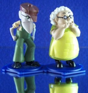 FIGURES ELDERLY FARMERS MURIEL+EUSTACE COURAGE THE COWARDLY DOG