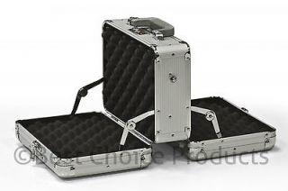 Double Sided Handgun Pistol Aluminum Gun Case With 2 Combination Locks