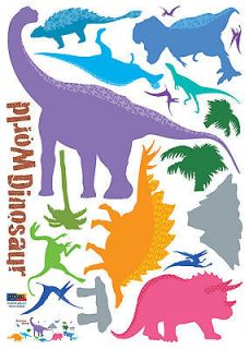 Dinosaur World Instant Instant Art Decor Removable Wall Sticker Decal
