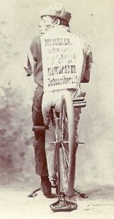 Newly listed 1880s Cabinet Card Bicycle Race Negro White Face