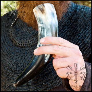 DRINKING HORN   Real Cow Horn. Viking Saxon Celt. Medieval Banquet