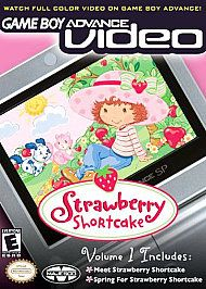 NEW GAMEBOY ADVANCE, DS, DS LITE VIDEO STRAWBERRY SHORTCAKE Squished