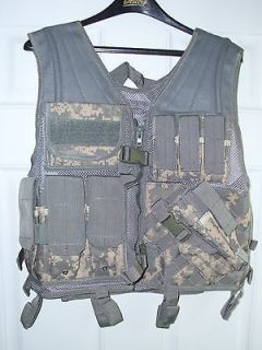 Heavy Duty Military Assault Cross Draw MOLLE Tactical Vest ACU Army
