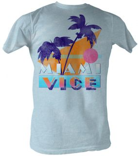 Miami Vice T shirt Logo Classic Adult Blue Tee Shirt