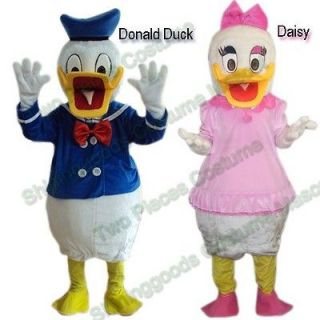 Couple Donald Duck And Daisy Mascot Costume Adult Party Dress Animal