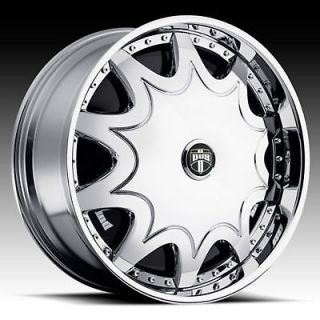 28 DUB STASHOLA SPINNER CHROME WHEEL SET