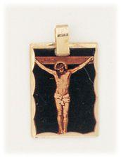 JESUS ON CROSS CHRIST CRUCIFIXION PENDANT CHRISTIAN GIFT ITALY