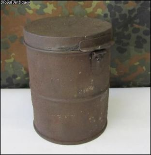 WWI ORIGINAL GERMAN GAS MASK CANISTER