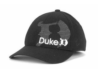 Duke Blue Devils Mens Hat Cap Zephyr Interval Gothic Black Flexfit (S