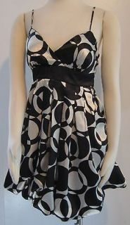 CITY TRIANGLES SATIN BLACK & WHITE DRESS   PLEASE SEE ALL PICTURES