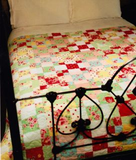 Sugar Garden Quilt  easy pieced quilt PATTERN for beginners