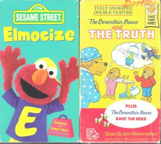 Sesame Street   Elmocize (VHS, 1996) & The Berenstain Bears and the