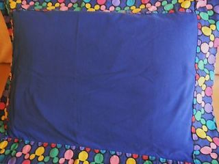 Pillow case sham Disney colorful blue with Mickey Mouse ear border