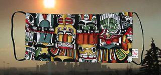 Aboriginal   DESIGNER PLEATED FABRIC SURGICAL FACE MASK