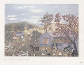 GRANDMA MOSES print FOR THIS IS THE FALL OF THE YEAR