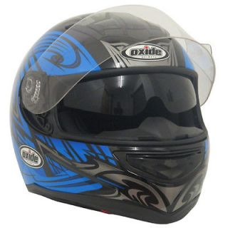 Nitro Style Oxide DVS,Cheek Pump Full Face Motorbike Helmet Blue