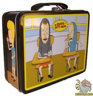 Beavis and Butthead Metal Tin Lunch Box Classroom Carrier Pack Cool