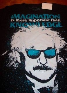 ALBERT EINSTEIN IMAGINATION Pop Art T Shirt 2XL XXL NEW w/ TAG