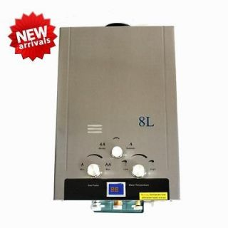 New Natural Gas 8L NG TANKLESS INSTANT HOT WATER HEATER BOILER