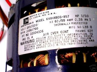 Emerson 02024306 1550/790 RPM 1/30 HP Electric Motor